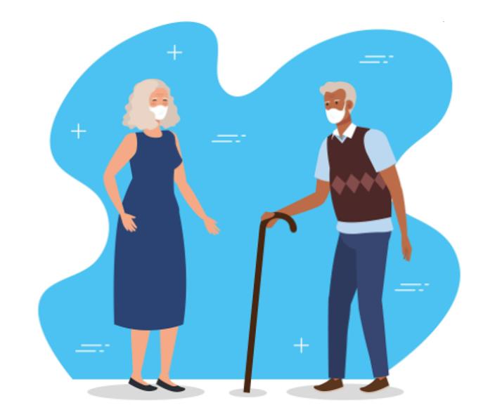 Cartoon of old people